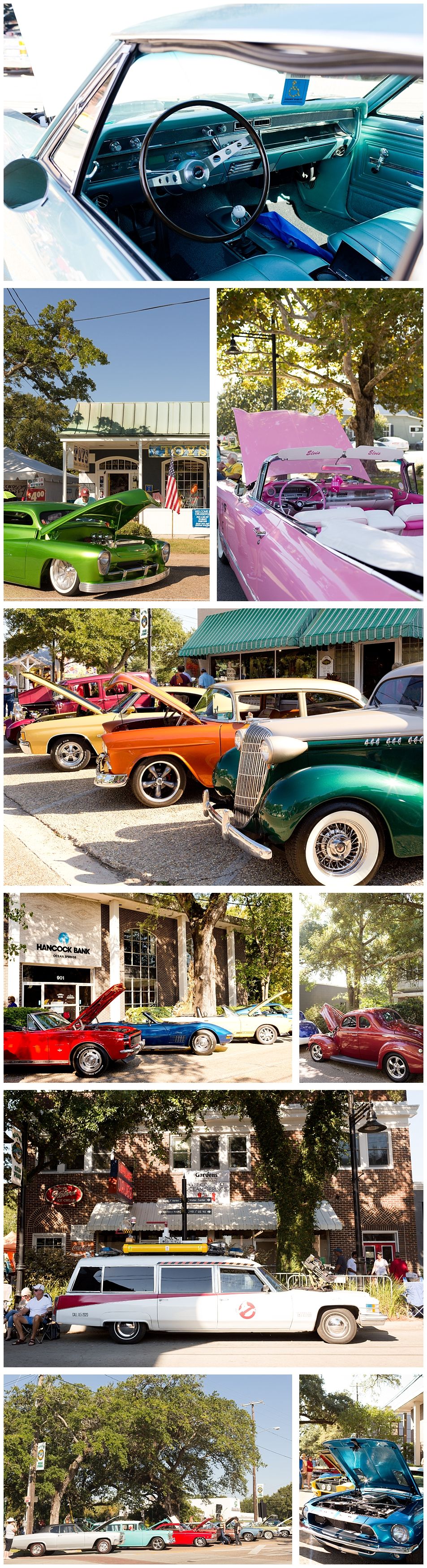 Crusin' the Coast cars in Ocean Springs, Mississippi