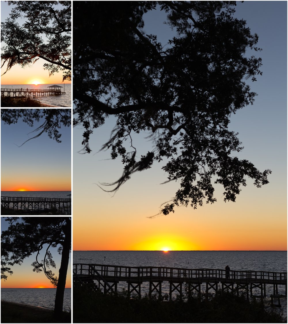 sunset in Fairhope, Alabama
