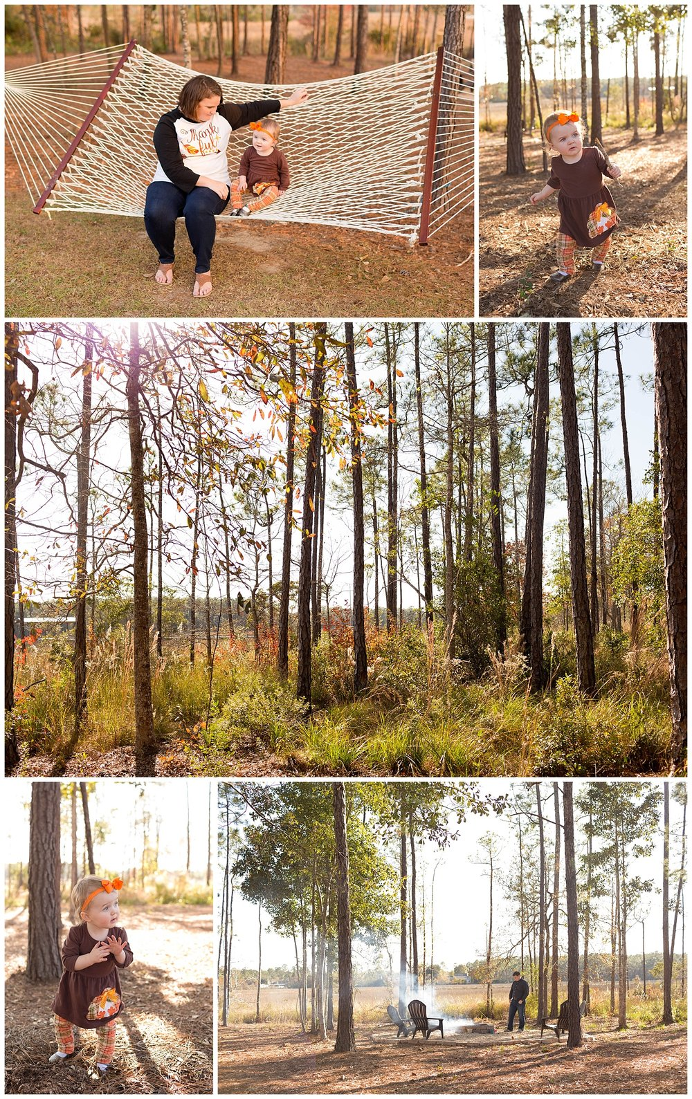 Thanksgiving Day with ire pit, hammock, woods