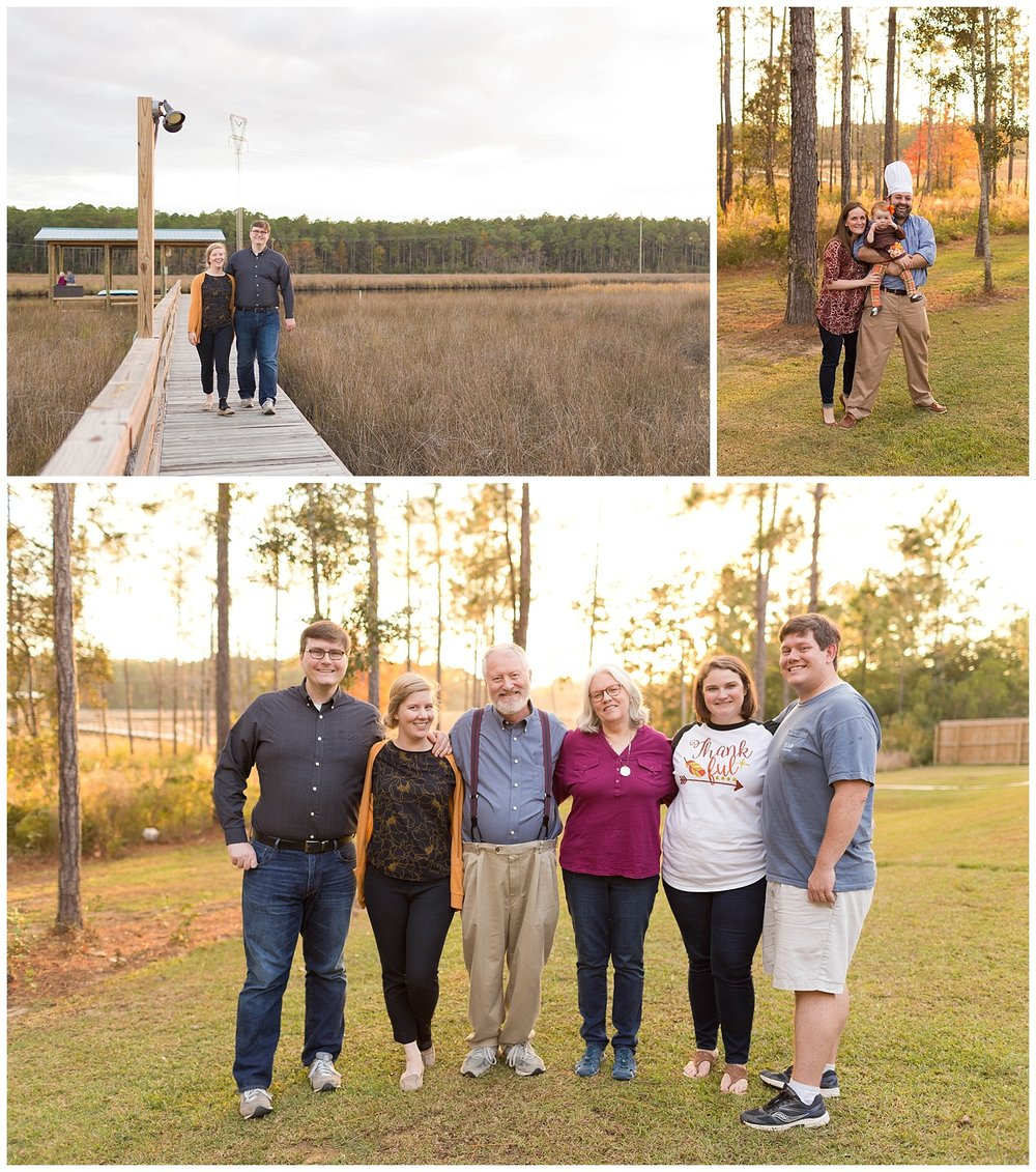 Thanksgiving Day Family Portraits in Ocean Springs, MS (Uninvented Colors Photography)