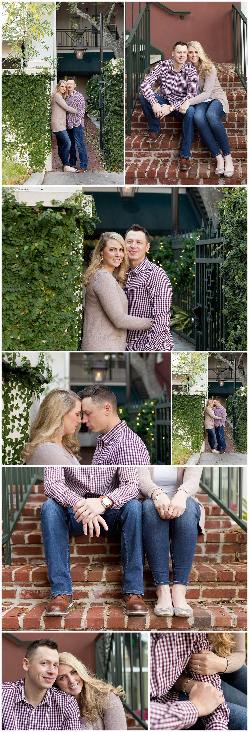 downtown Ocean Springs, Mississippi engagement session