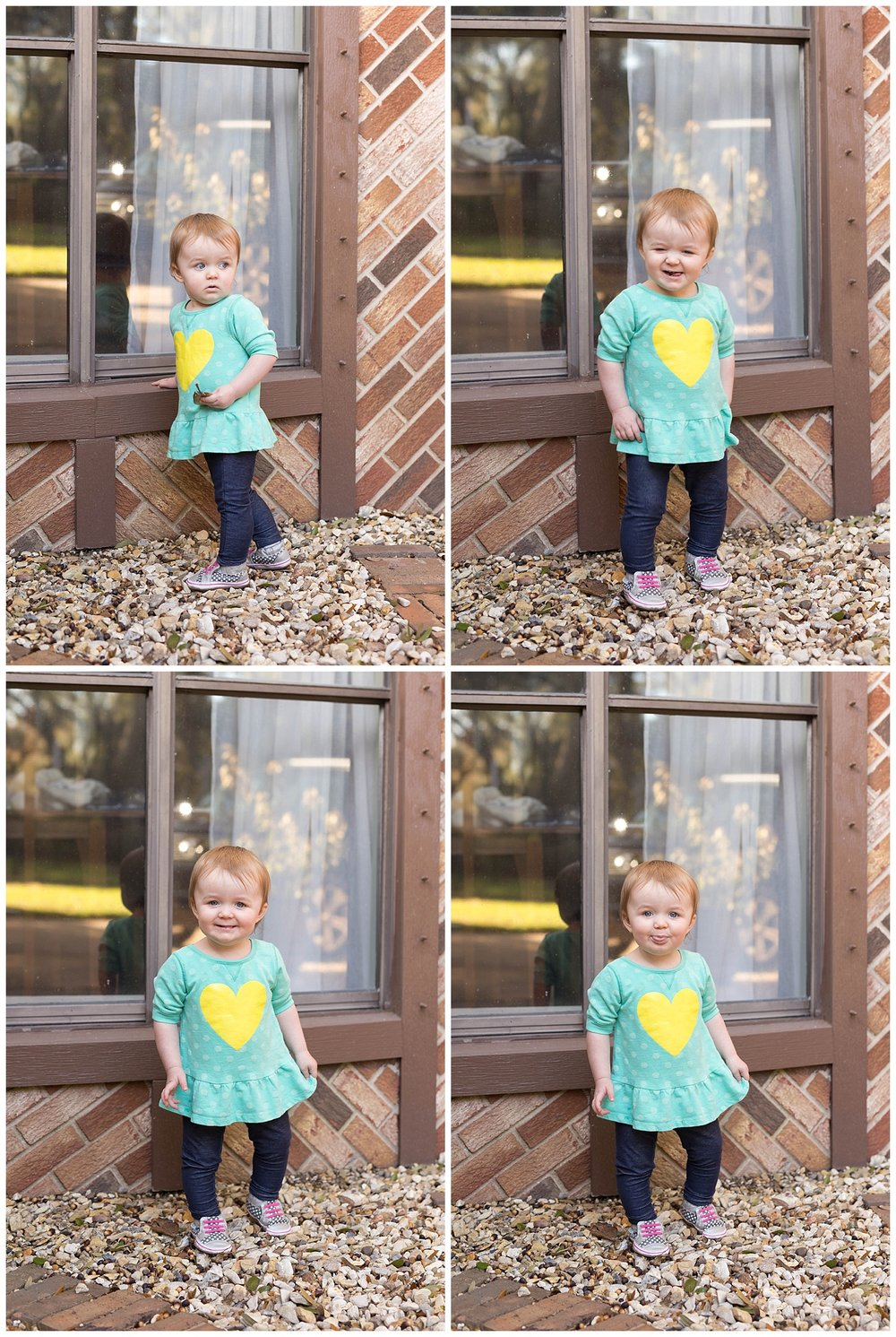 toddler girl making funny faces - Gulf Coast children's photographer