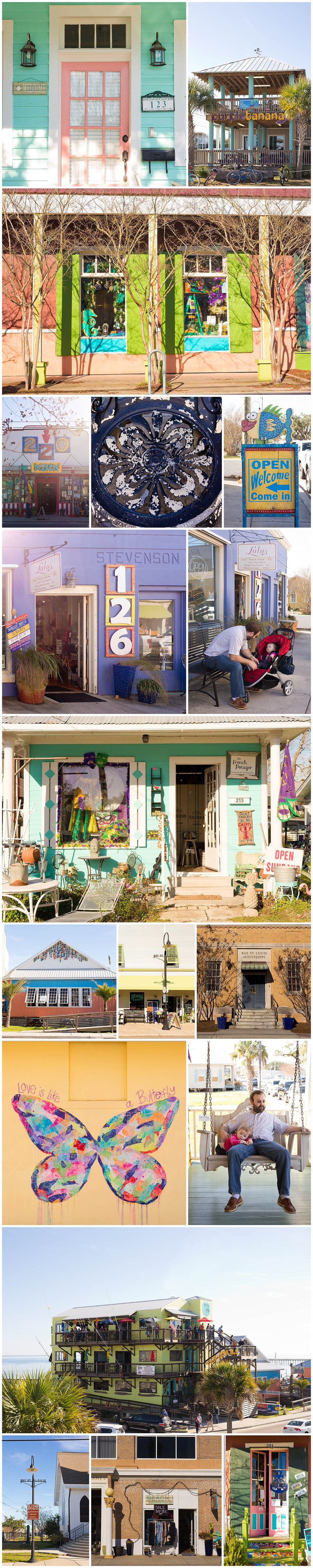 Bay St. Louis, Mississippi photographer - colorful buildings and storefronts