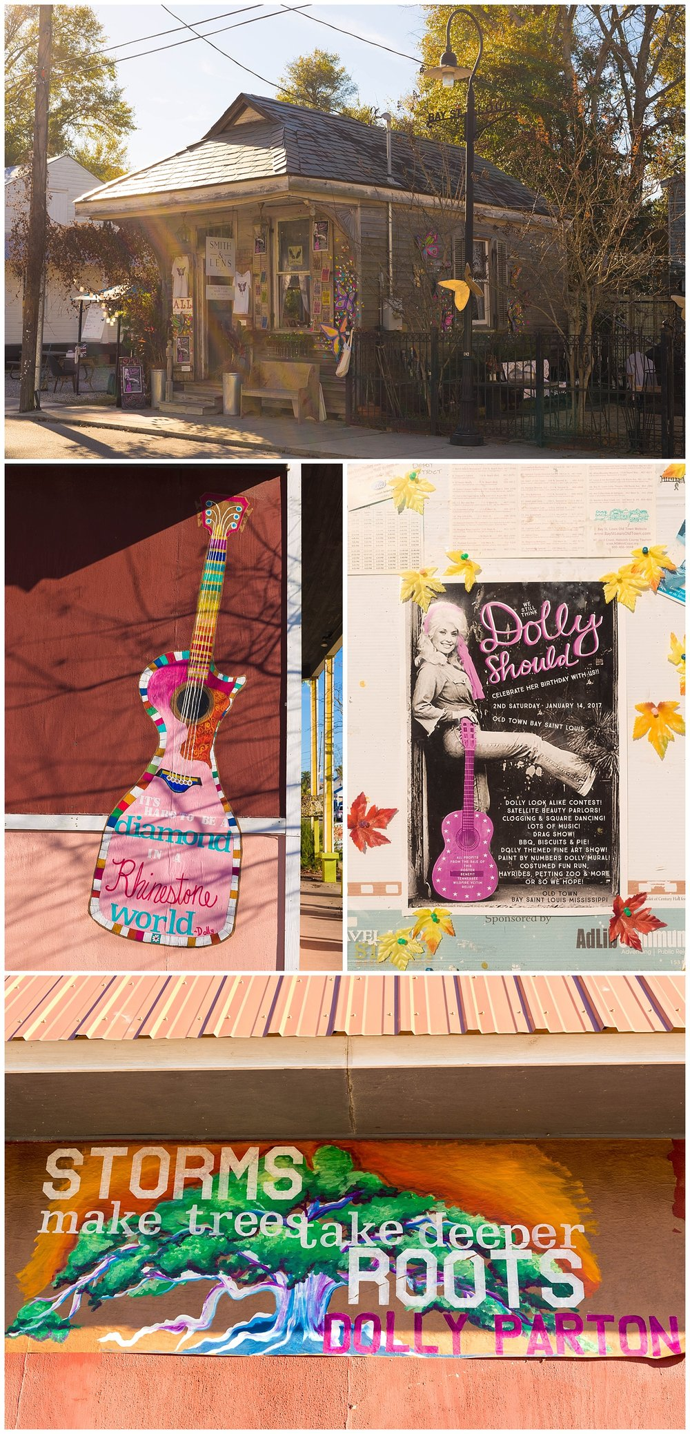 Dolly Parton inspired art in Bay St. Louis, Mississippi
