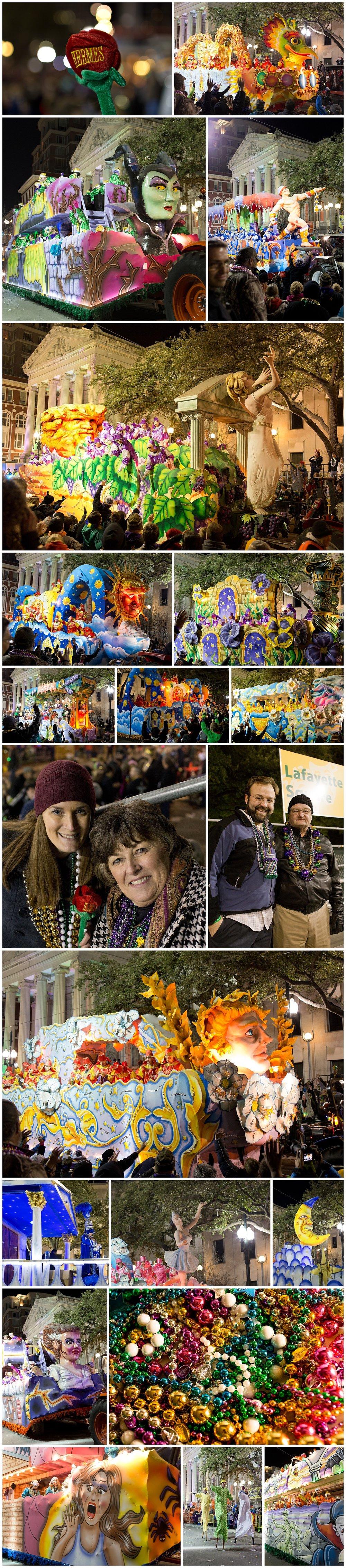 New Orleans Mardi Gras parades - Hermes, D'Etat, Morpheus