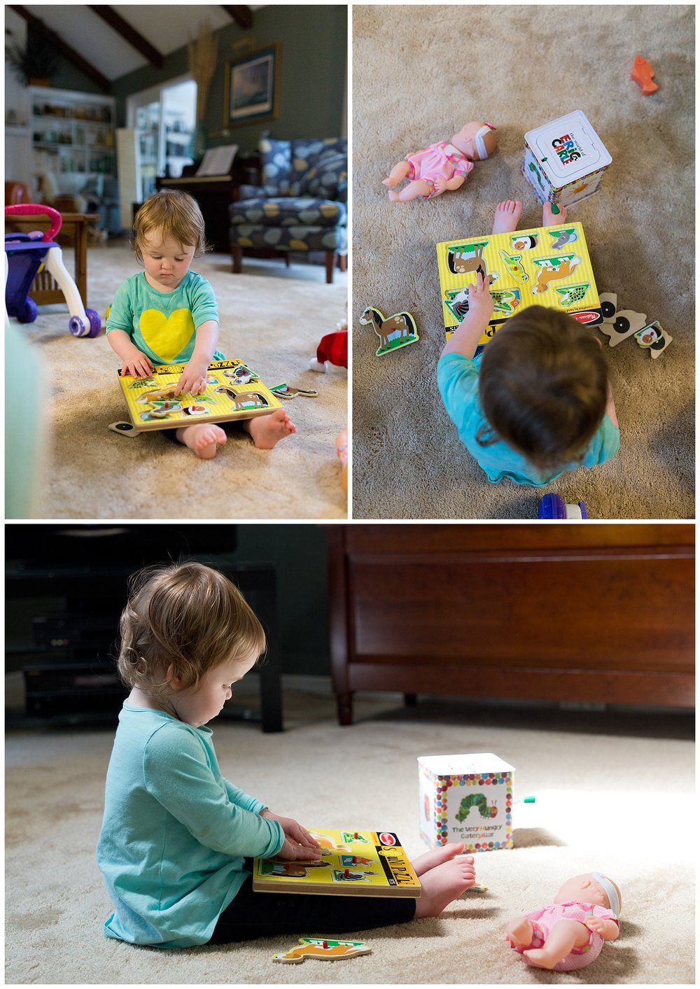 toddler girl doing puzzle (Ocean Springs lifestyle photographer)