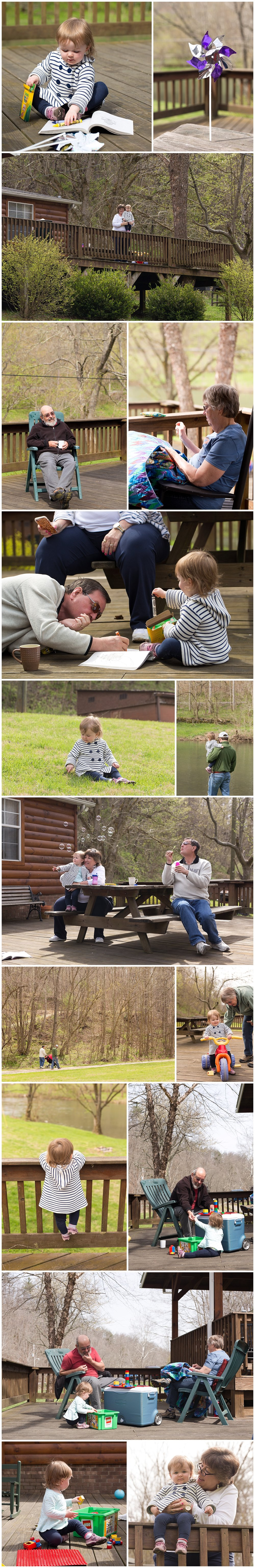 family fun at log cabin retreat
