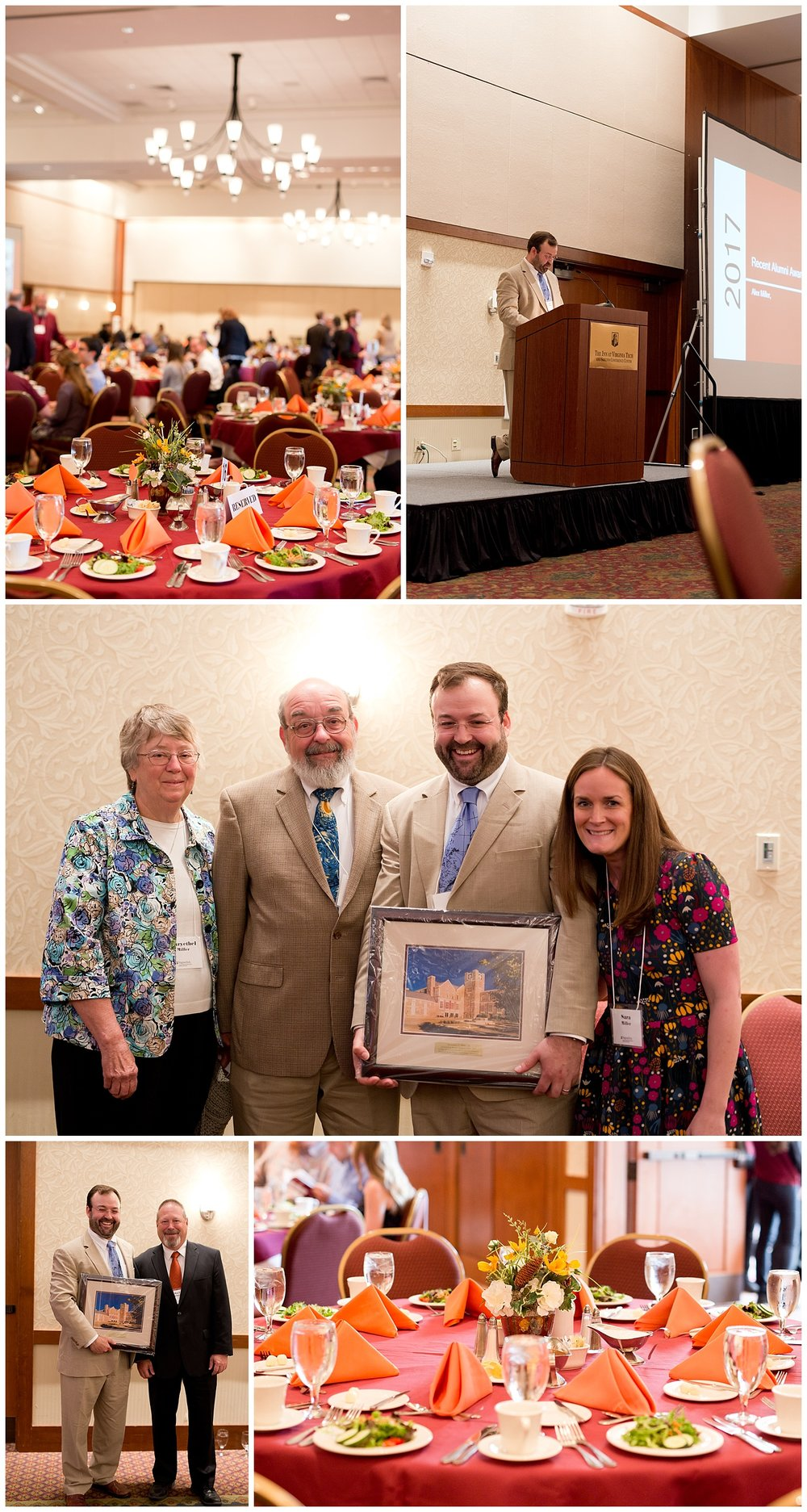 Outstanding Alumni Award Dinner at Virginia Tech