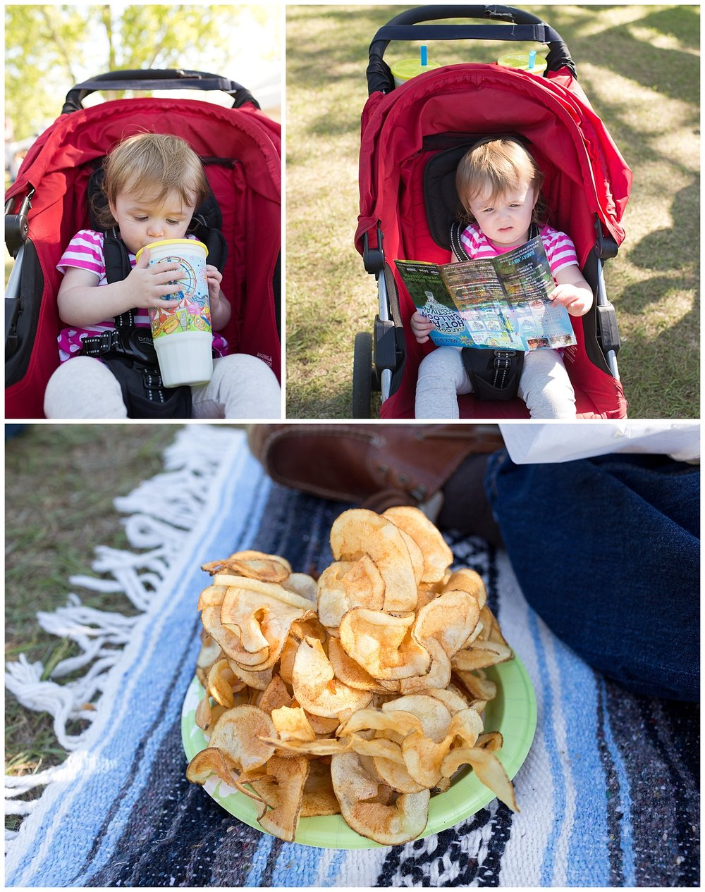 spiral potato chips and lemonade - toddler with fair food