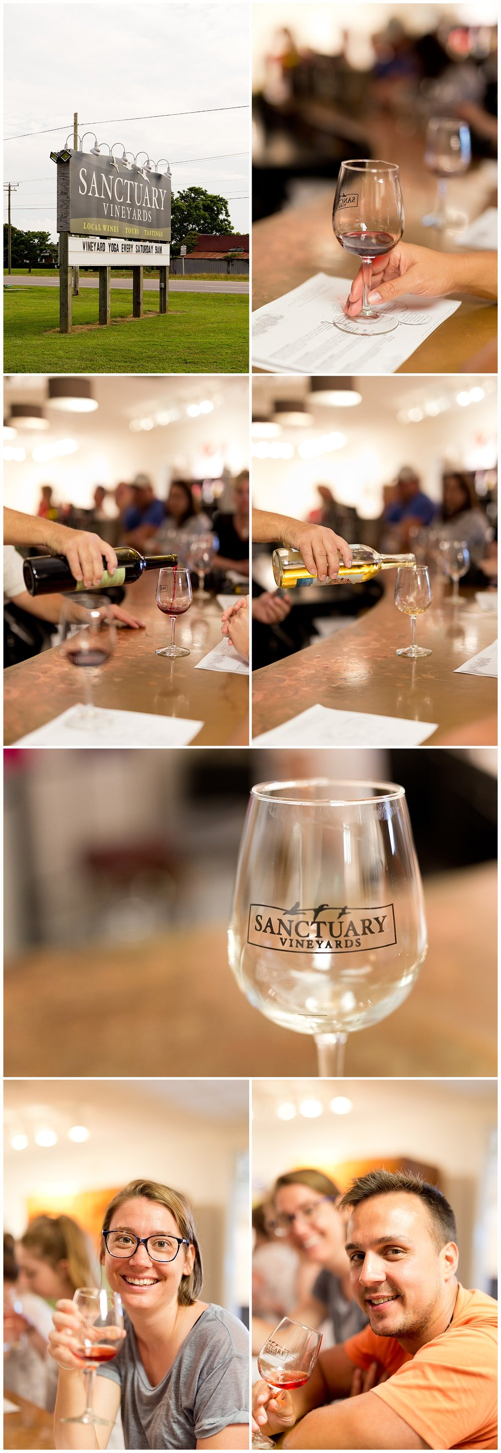 free wine tasting at Sanctuary Vineyards in Jarvisburg, North Carolina