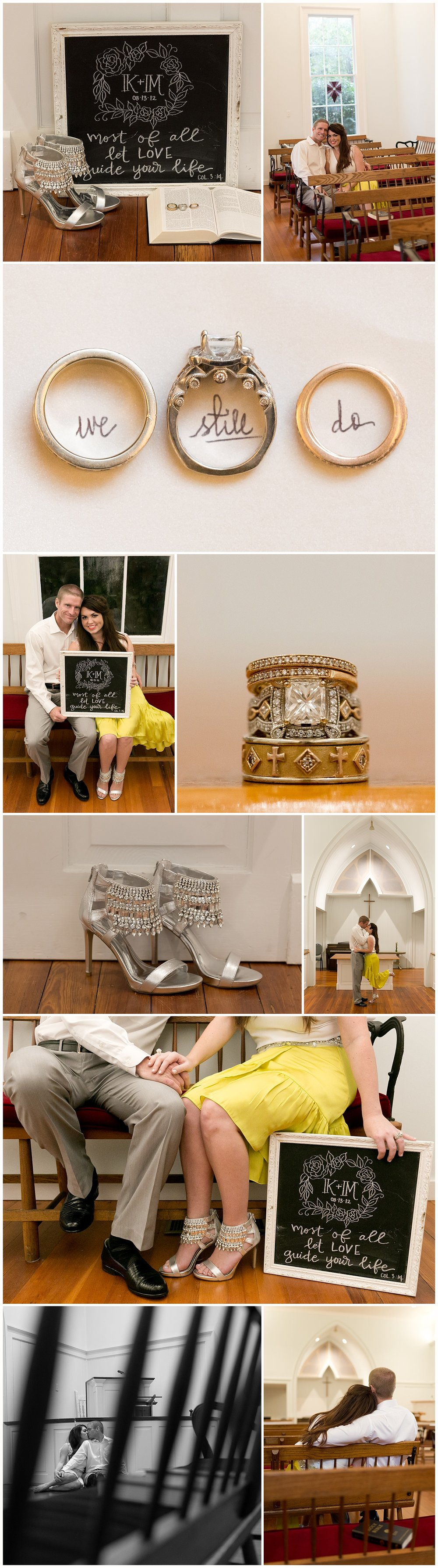 vow renewal details - chalkboard, rings, shoes - Ocean Springs, Mississippi wedding photographer