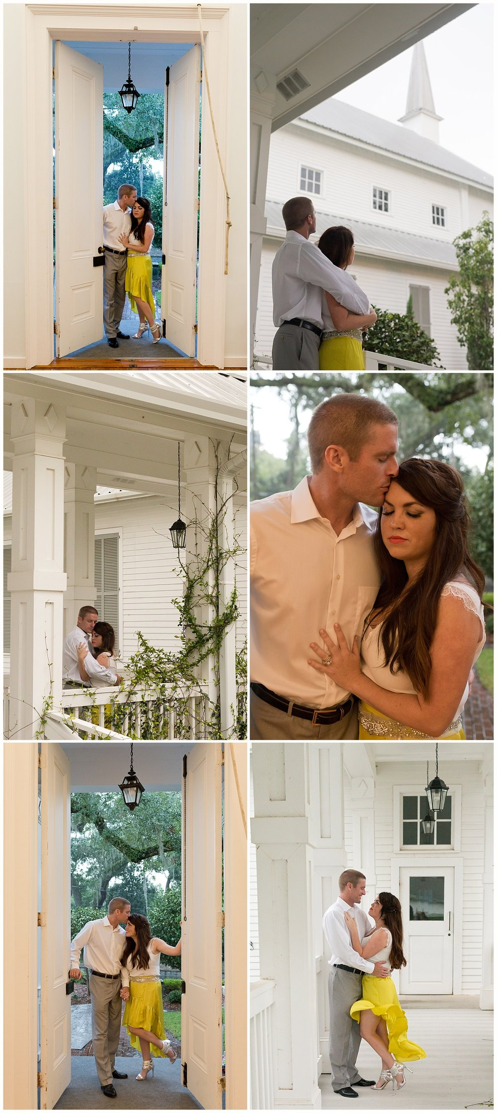 romantic portraits at First Presbyterian Church, Ocean Springs, Mississippi (Uninvented Colors Photography)
