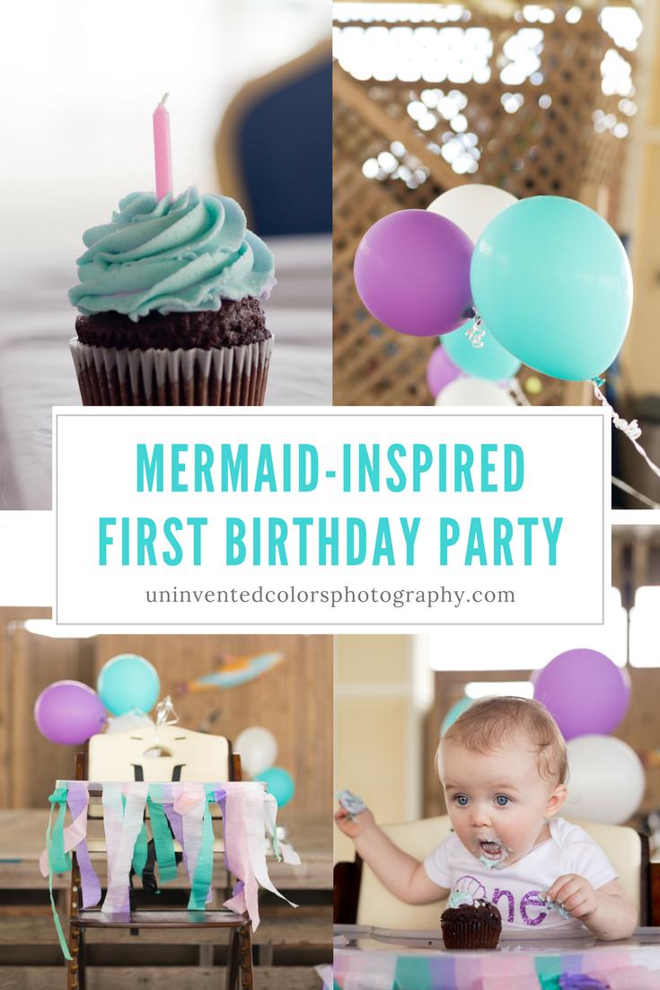 Mermaid-inspired first birthday party - baby girl mermaid birthday party