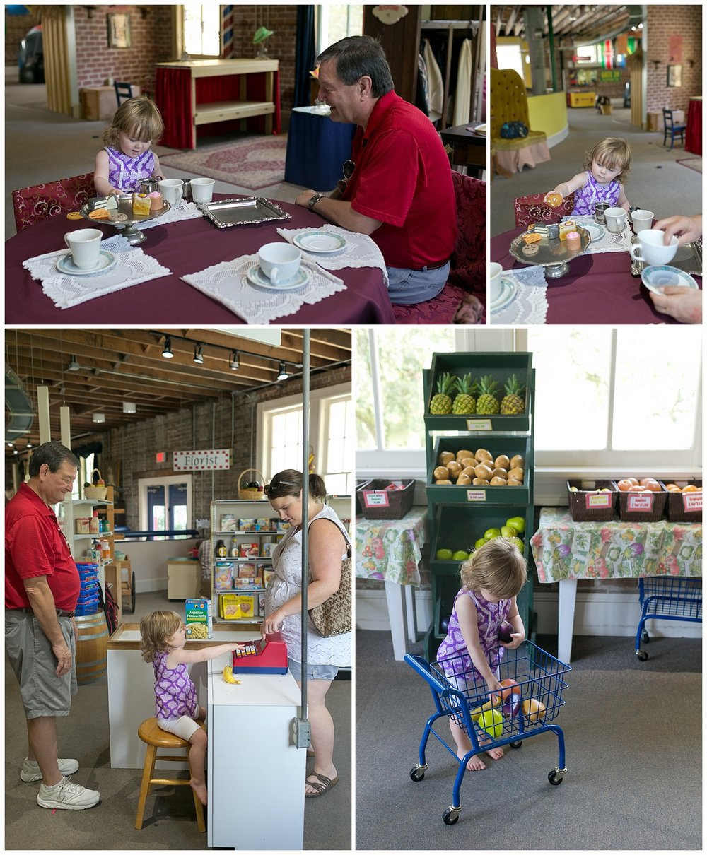 grocery store and tea party at Lynn Meadows Discovery Center