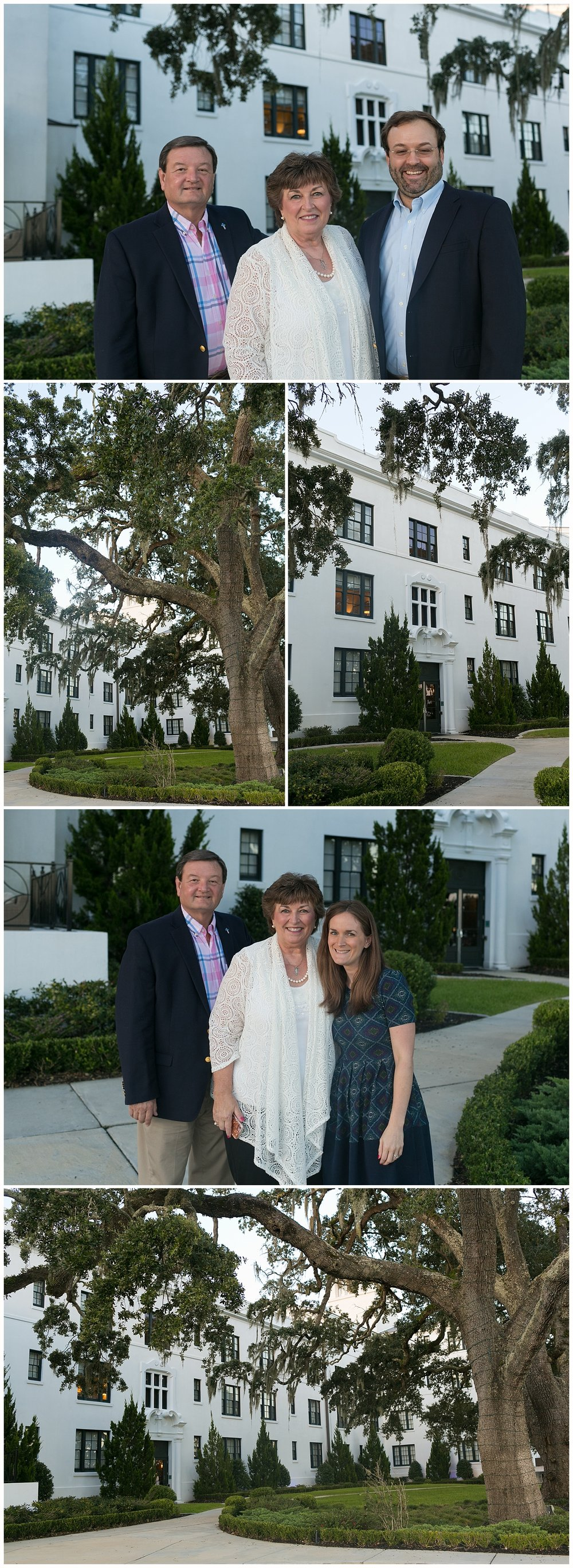 family photos before dinner at Cora's at the White House Hotel in Biloxi, Mississippi