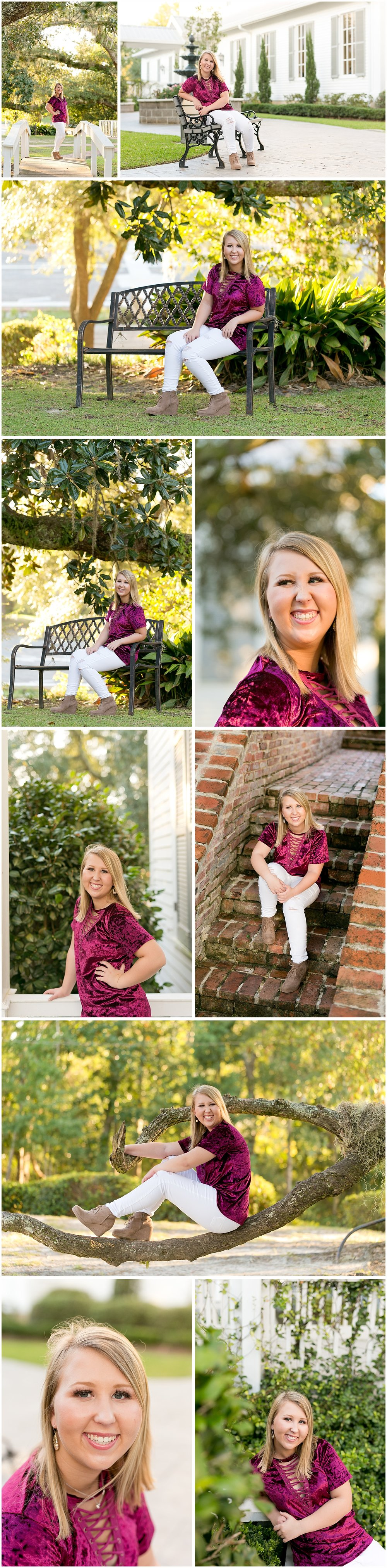 Ocean Springs, Mississippi senior portrait photographer Uninvented Colors Photography