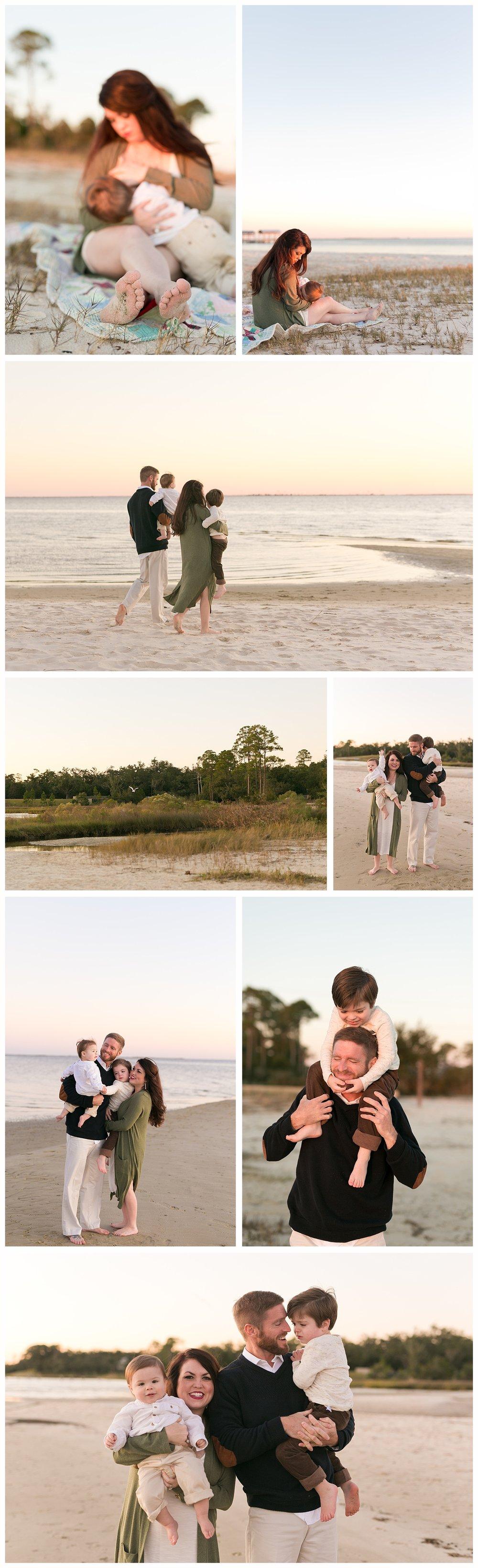 Ocean Springs family photographer, lifestyle family photos on the beach