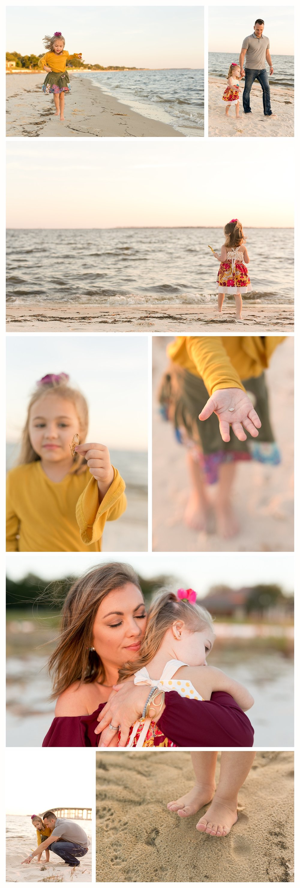 relaxed lifestyle family photos on Front Beach, Ocean Springs, Mississippi (family photographer)
