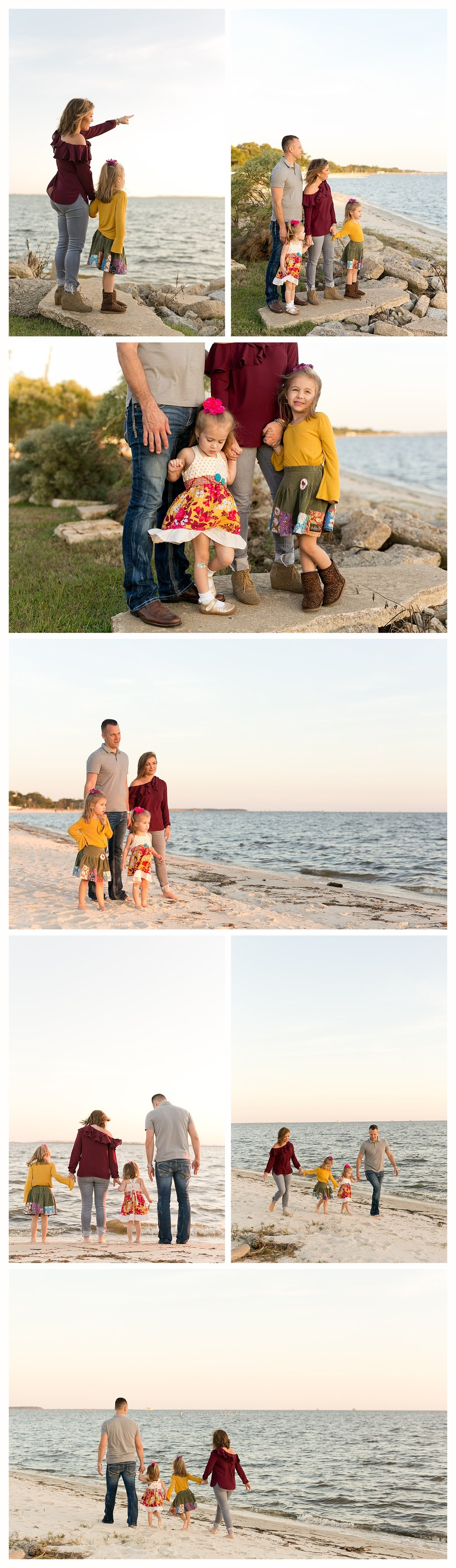 Ocean Springs family photographer - family photos on Front Beach, Ocean Springs, Mississippi