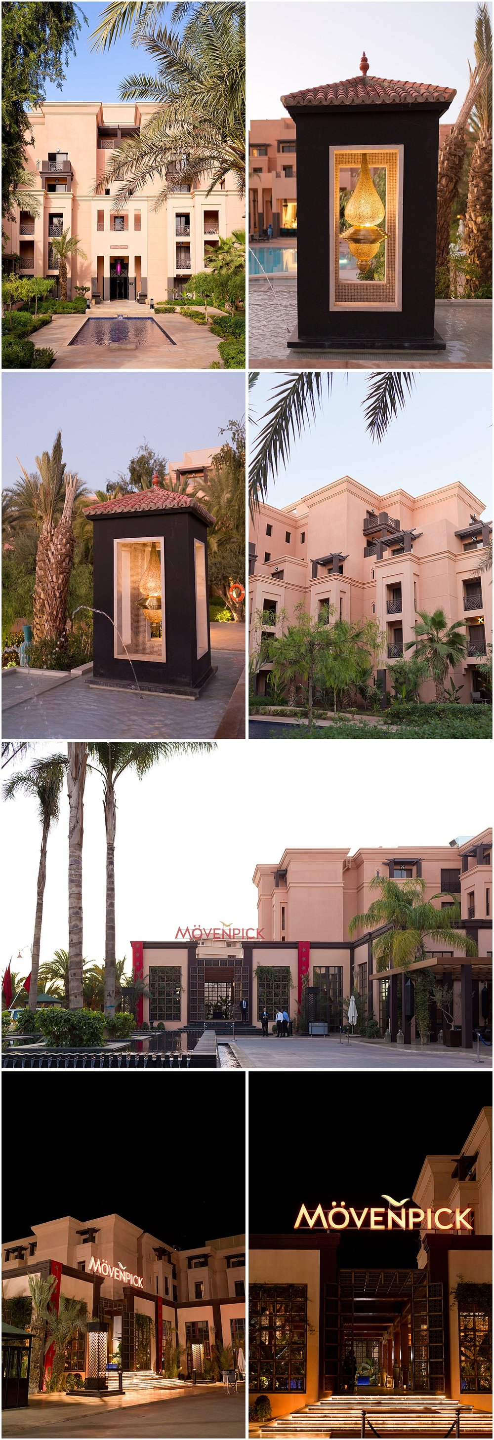 exterior of beautiful Morocco hotel Movenpick Marrakesh