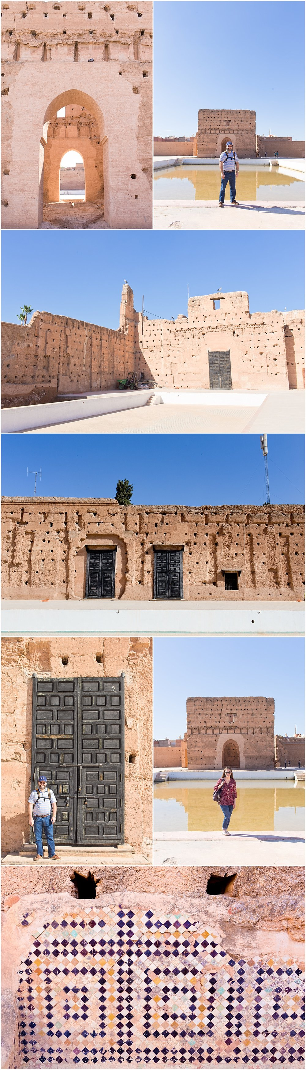 Badi Palace ancient structure in Marrakech, Morocco