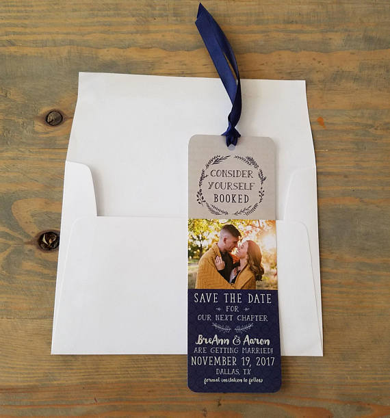 Bookmark Save the Date - Etsy wedding ideas by Mississippi Gulf Coast wedding photographer