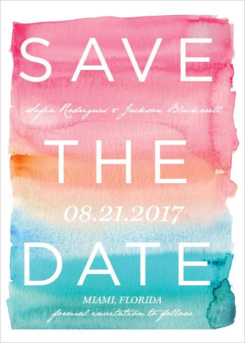 watercolor save the date - wedding inspiration for Ocean Springs, Mississippi wedding