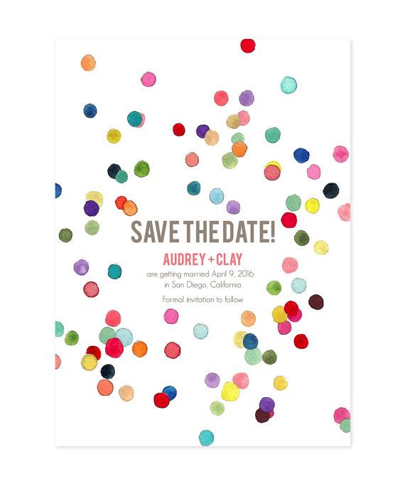 confetti save the date - Ocean Springs wedding ideas