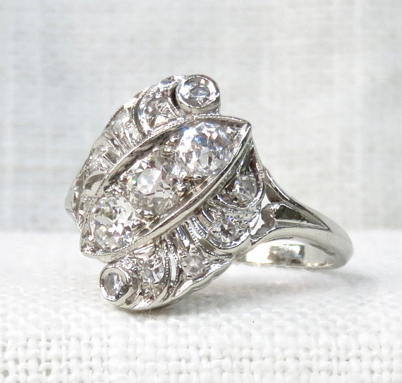 vintage engagement ring in New Orleans