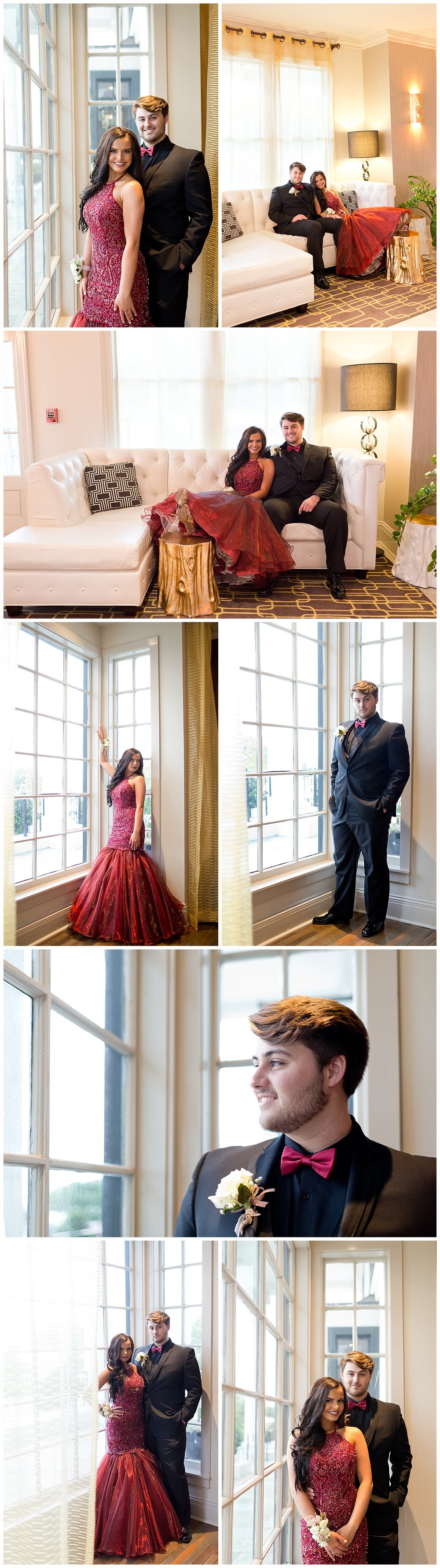 formal prom portraits at White House Hotel Biloxi