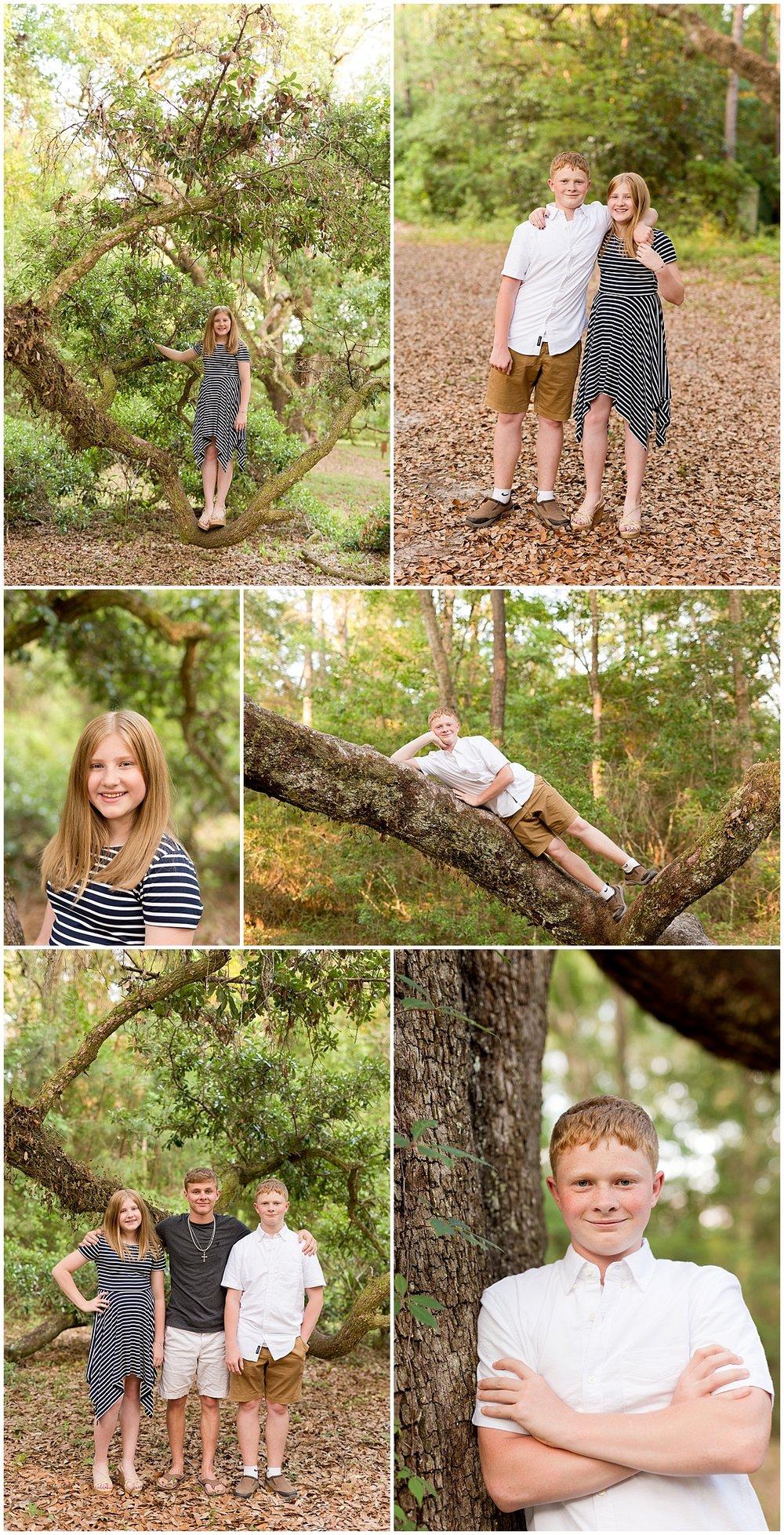 tween and teenage sibling family portraits in Ocean Springs, Mississippi