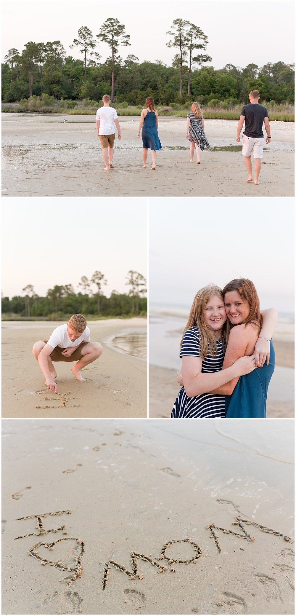 mother's day family portrait session at Ocean Springs East Beach