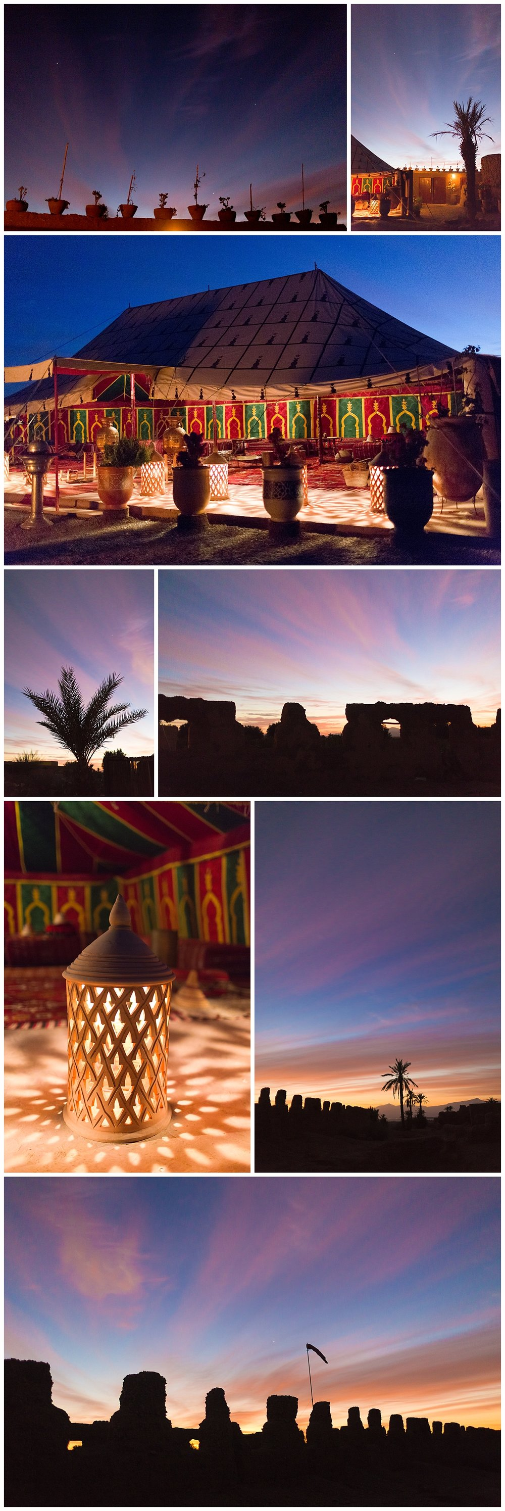 sunrise in the Sahara desert of Morocco