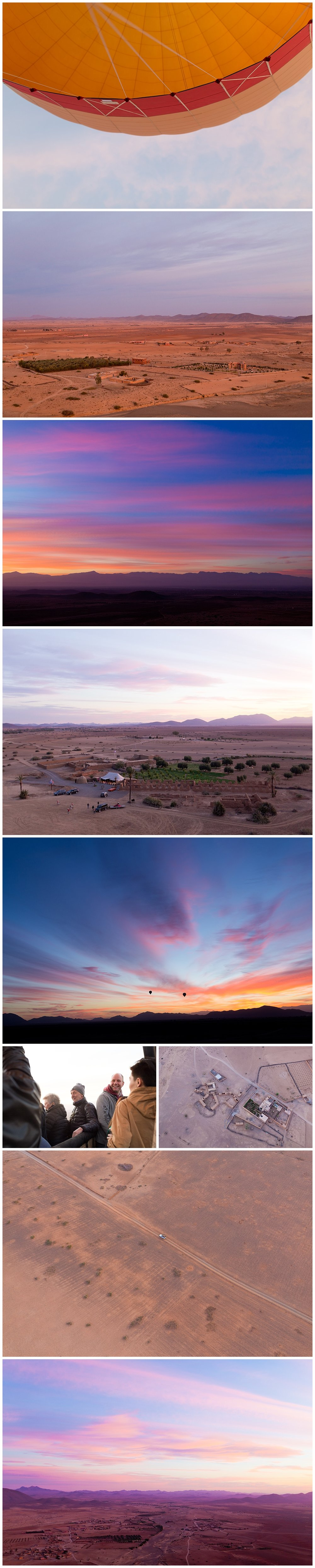 beautiful Sahara desert sunrise view from hot air balloon - Morocco travel blog