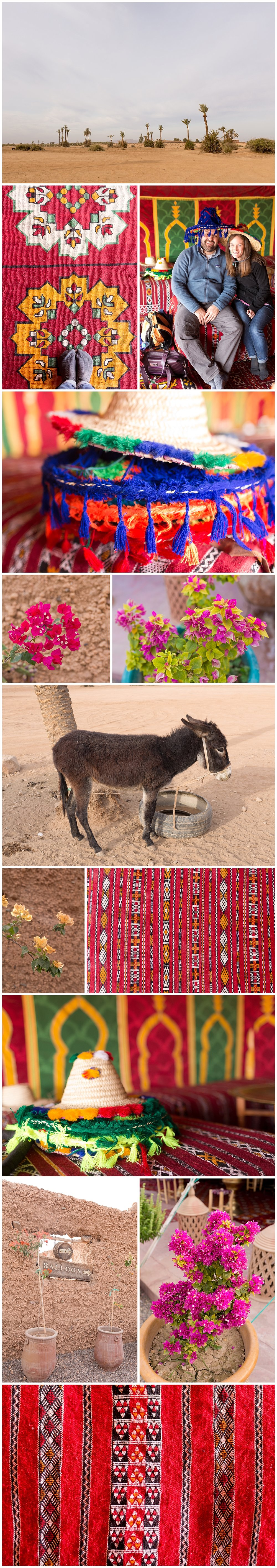 Berber Moroccan rugs and decor in the desert - colorful Moroccan decor
