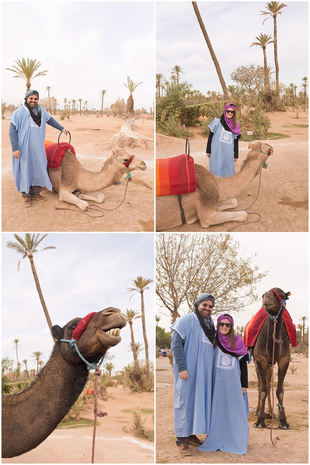 traditional attire for Moroccan camel ride - Marrakech, Morocco travel blog