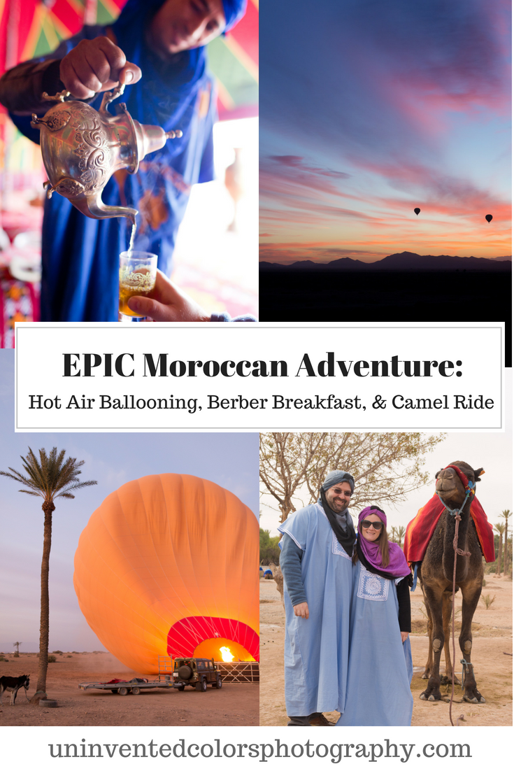 Morocco Adventure Travel - Desert Hot Air Balloon Ride and Camel Ride with Berber Breakfast