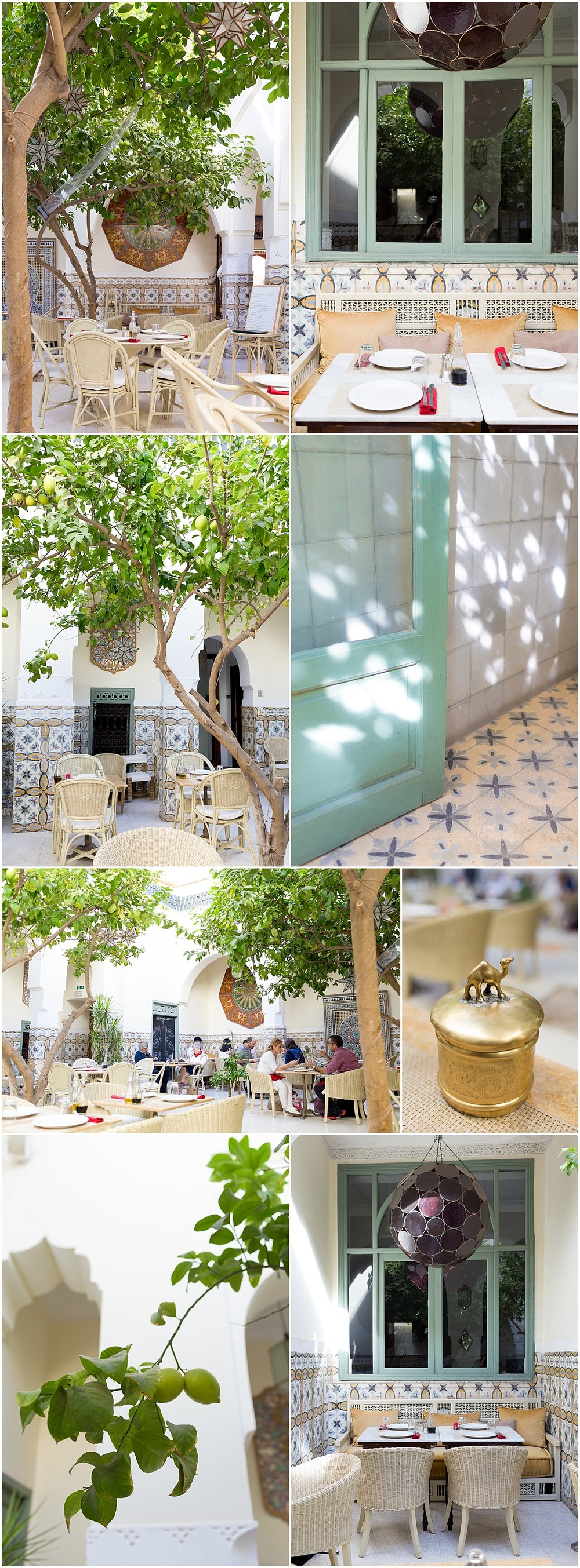 beautiful Moroccan interior at Limoni restaurant, Marrakech