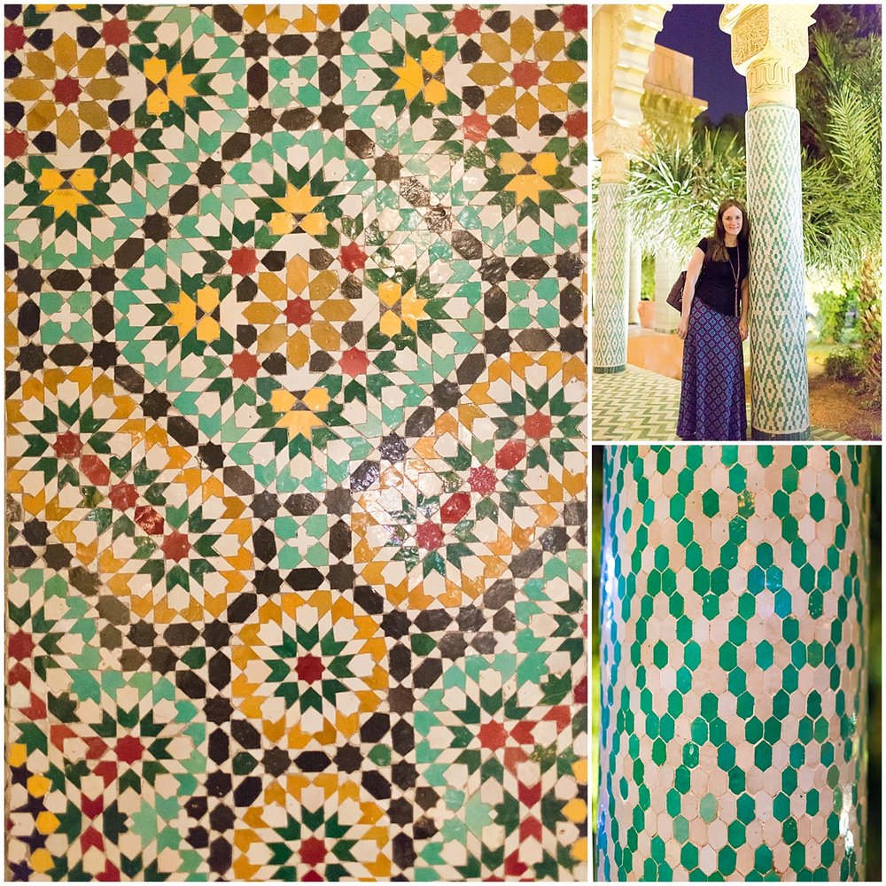 beautiful Moroccan tile at The Red House Restaurant, Marrakech