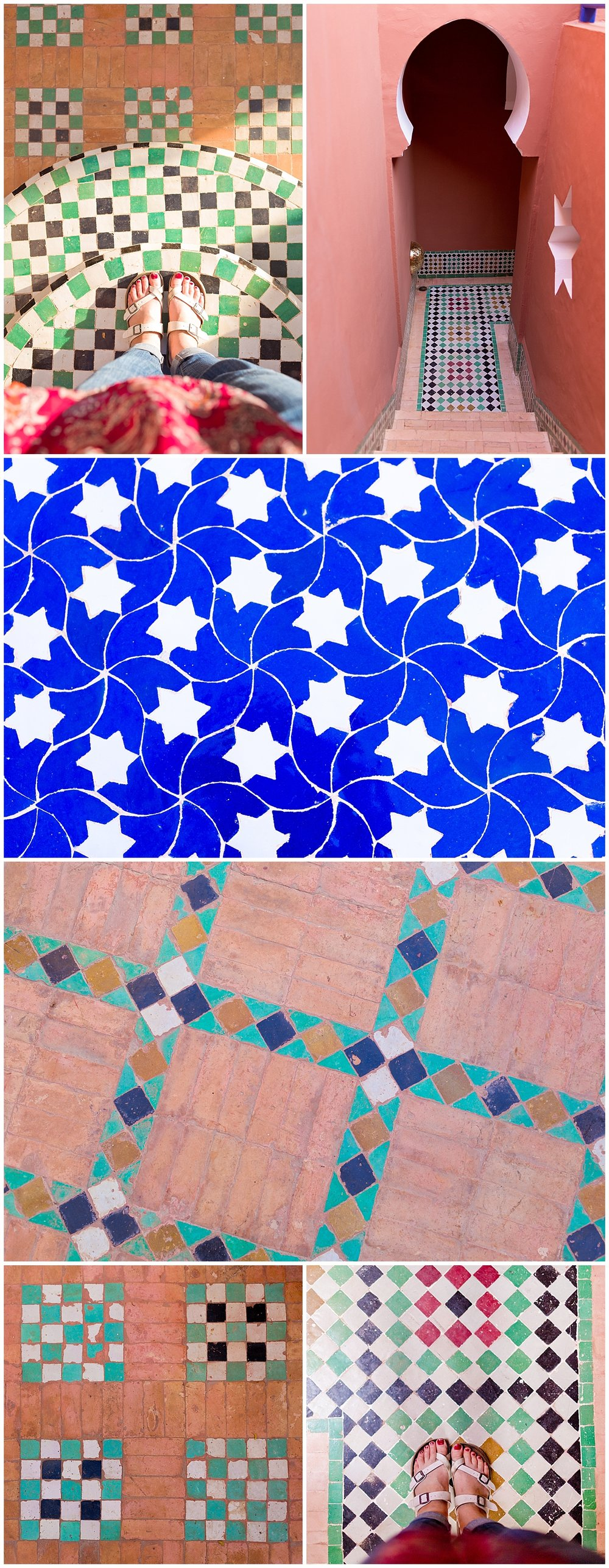 colorful Moroccan tile at Riad Kaiss, Marrakech