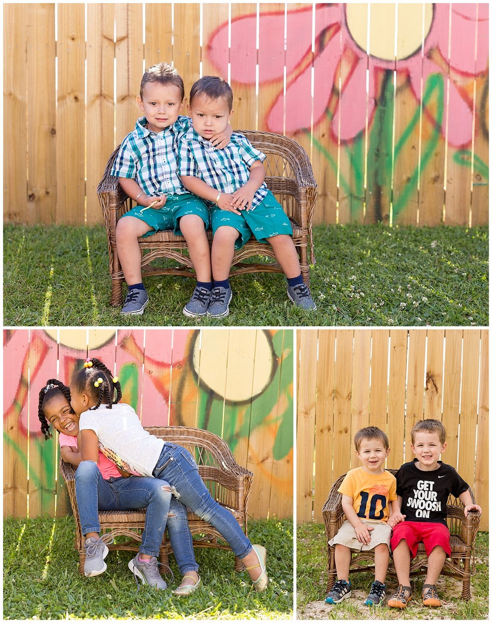 sibling school pictures at Ocean Springs preschool