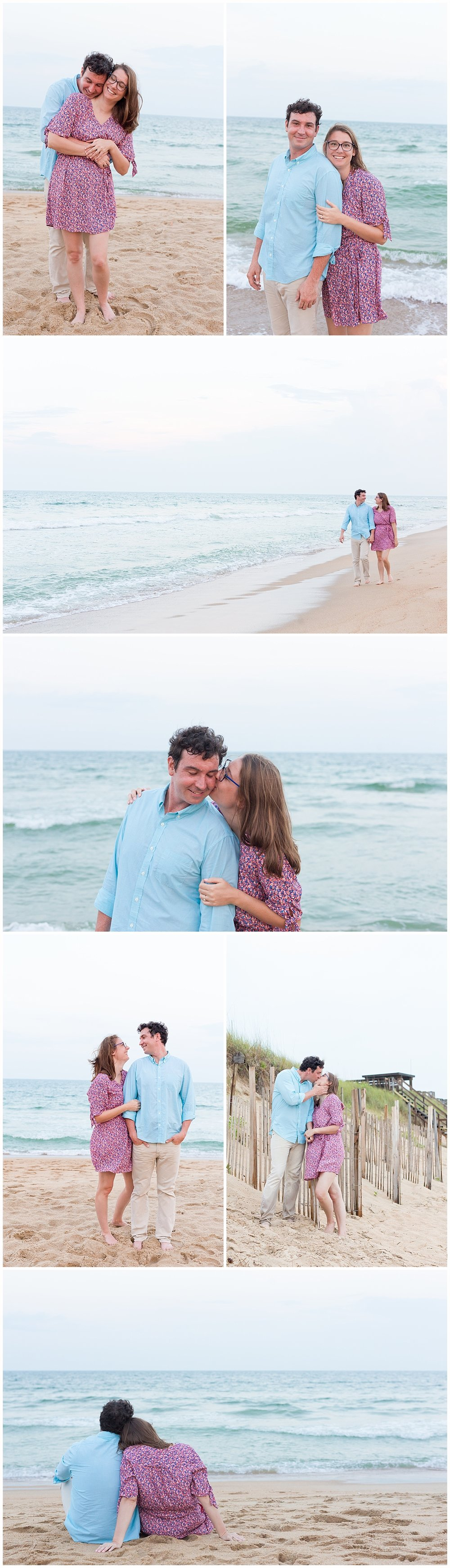 beach engagement pictures - coastal engagement photography - Ocean Springs, MS wedding photographer