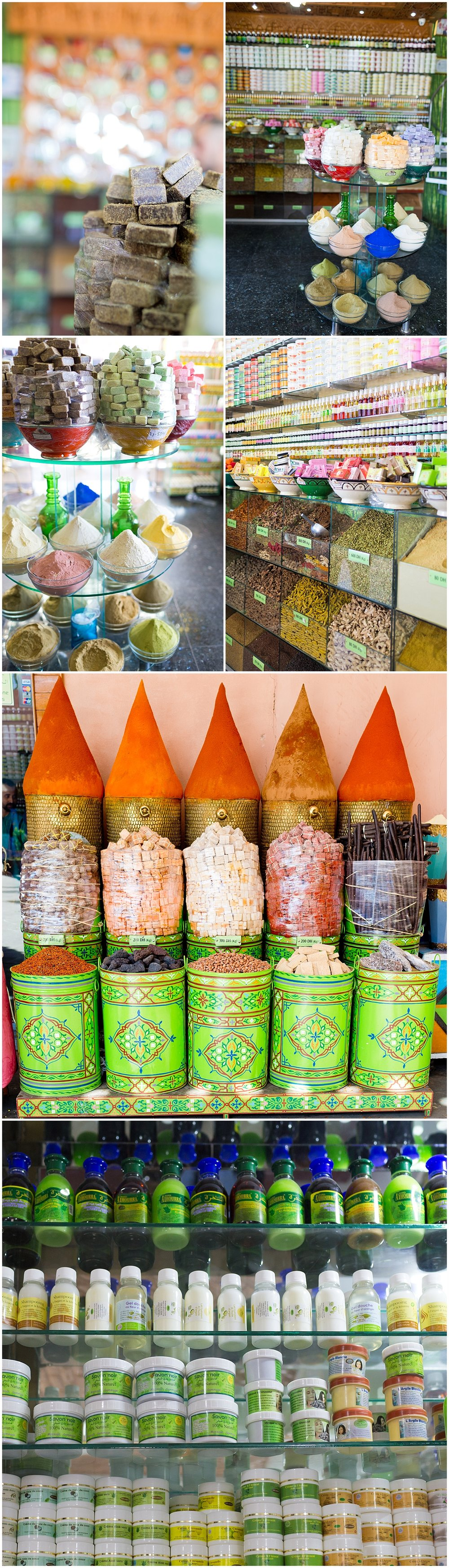 soaps and body care products in Marrakech, Morocco