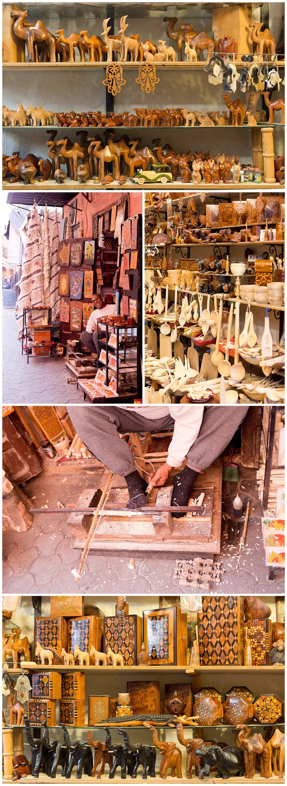 beautiful wood arts and crafts in Marrakech, Morocco travel blog