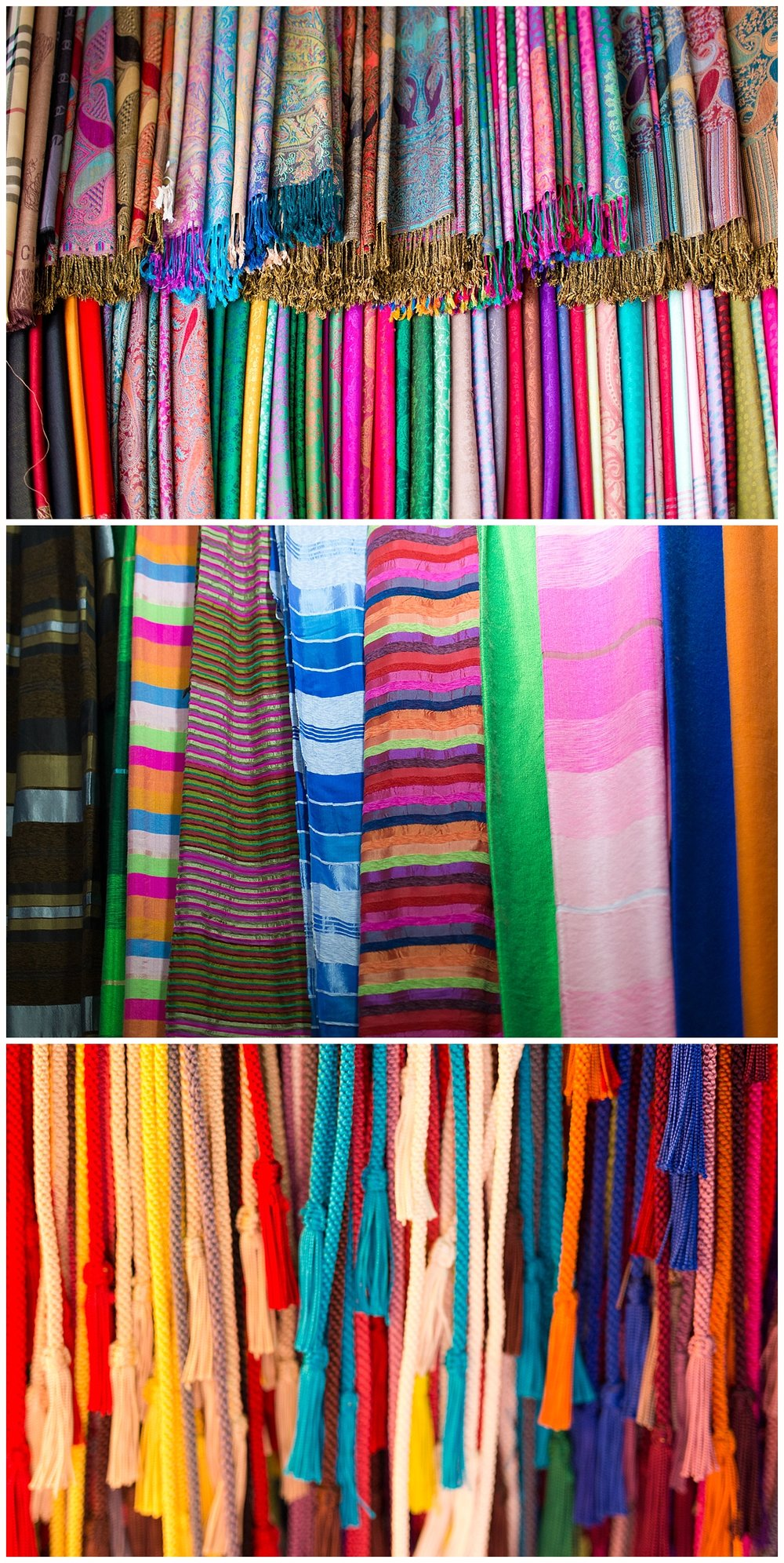 colorful fabric and clothing in Morocco