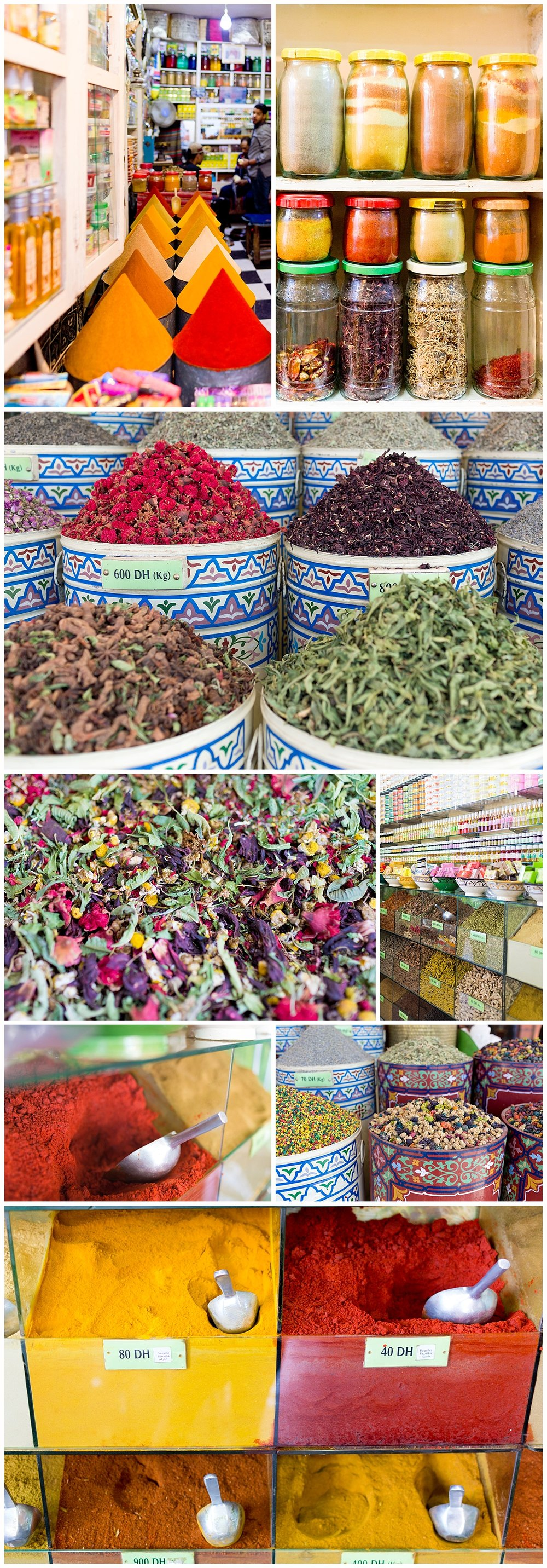 Moroccan spices for sale in Marrakech