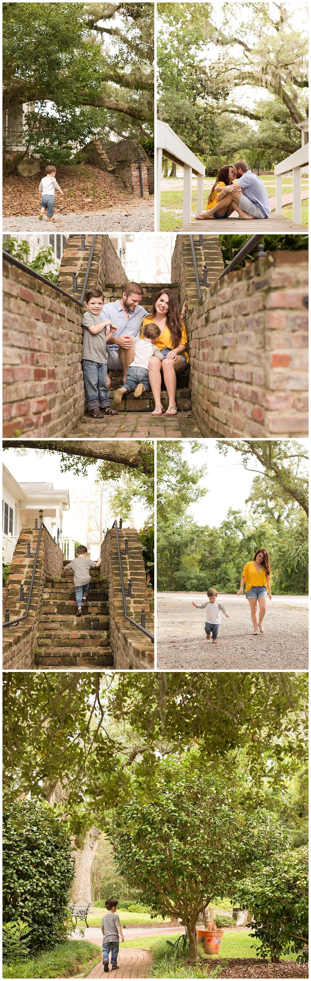 sweet family photos at First Presbyterian Church in Ocean Springs, Mississippi