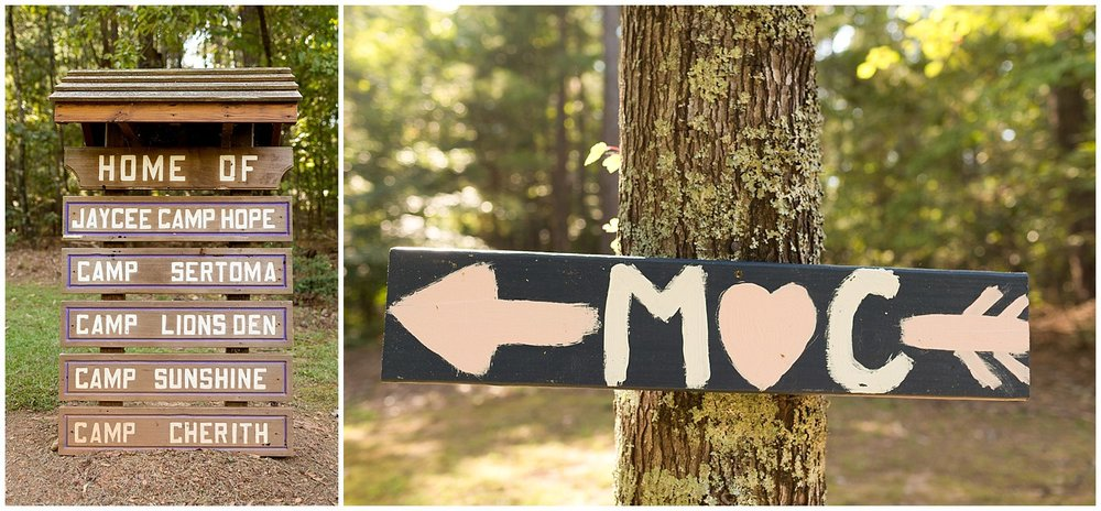 Clemson Outdoor Lab Wedding - rustic signs