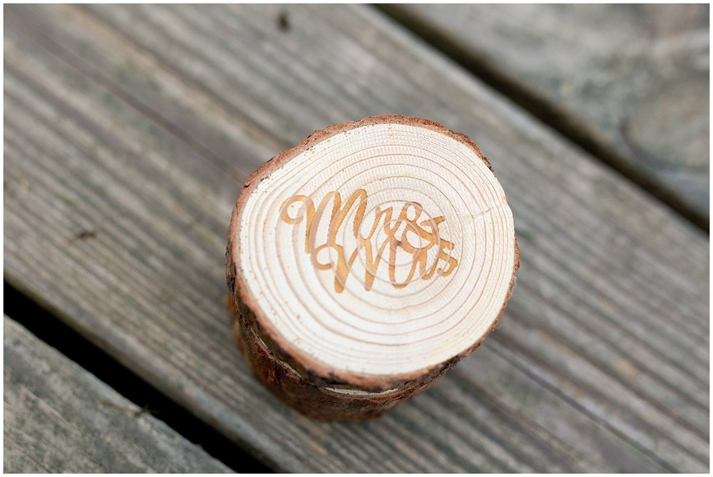 Mr. and Mrs. ring box for ring bearer