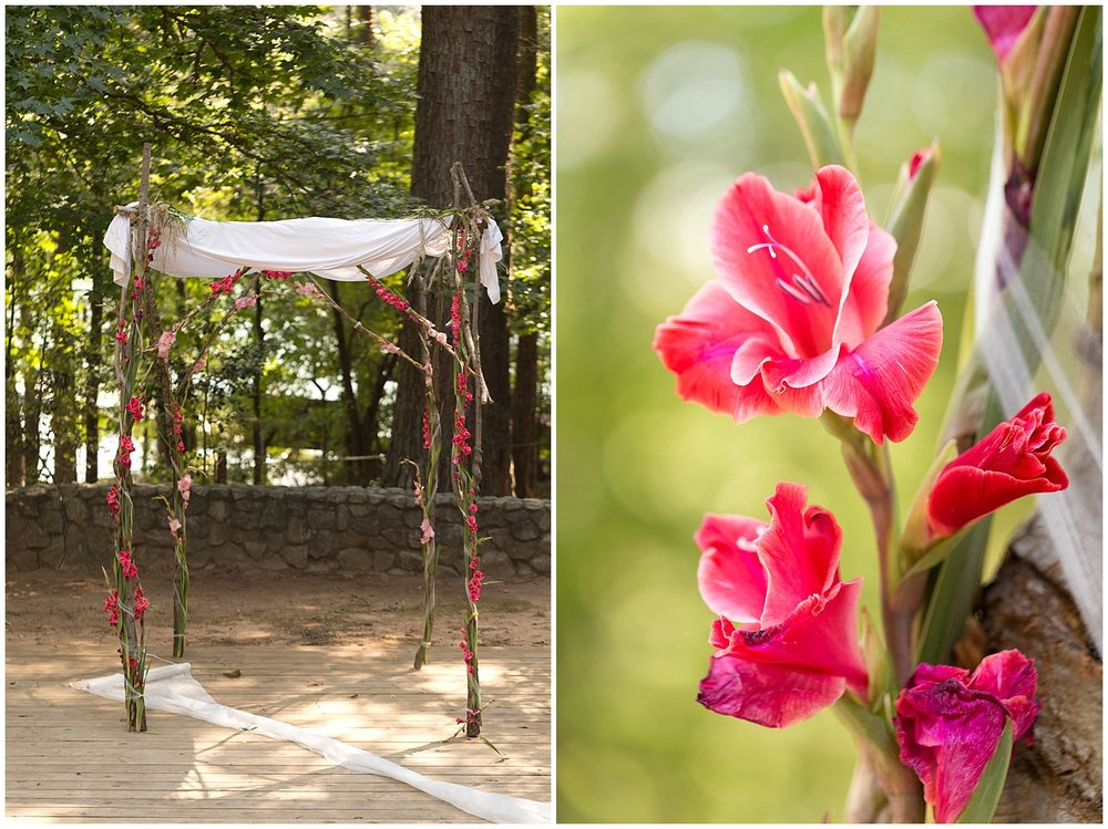 beautiful floral wedding chuppah